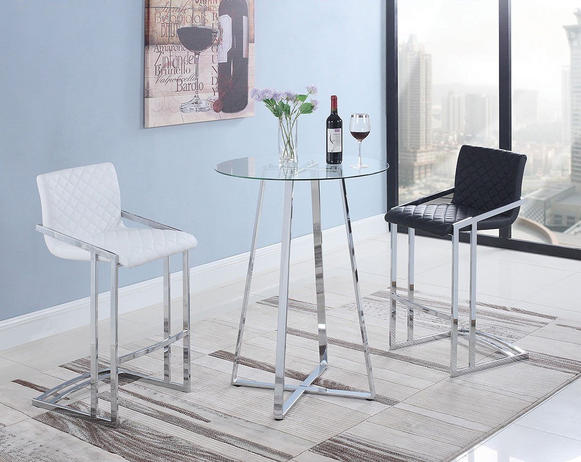 Contemporary Round Bar Table Set By Coaster Furniture Furniturepick
