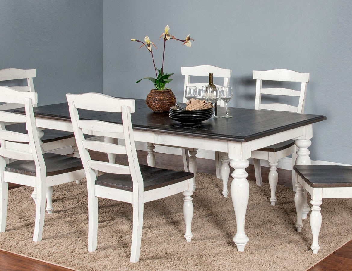 Carriage House Extension Dining Table By Sunny Designs Furniturepick