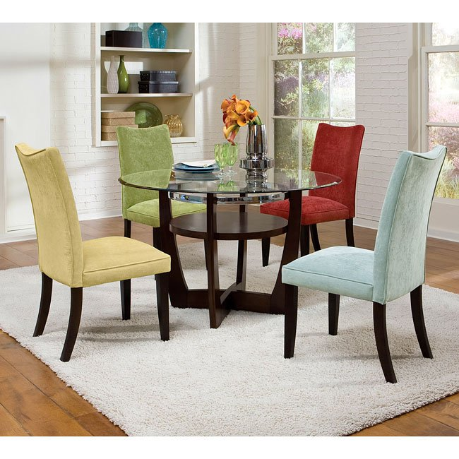 Apollo Dining Room Set W Multicolor Chairs Standard Furniture Furniturepick