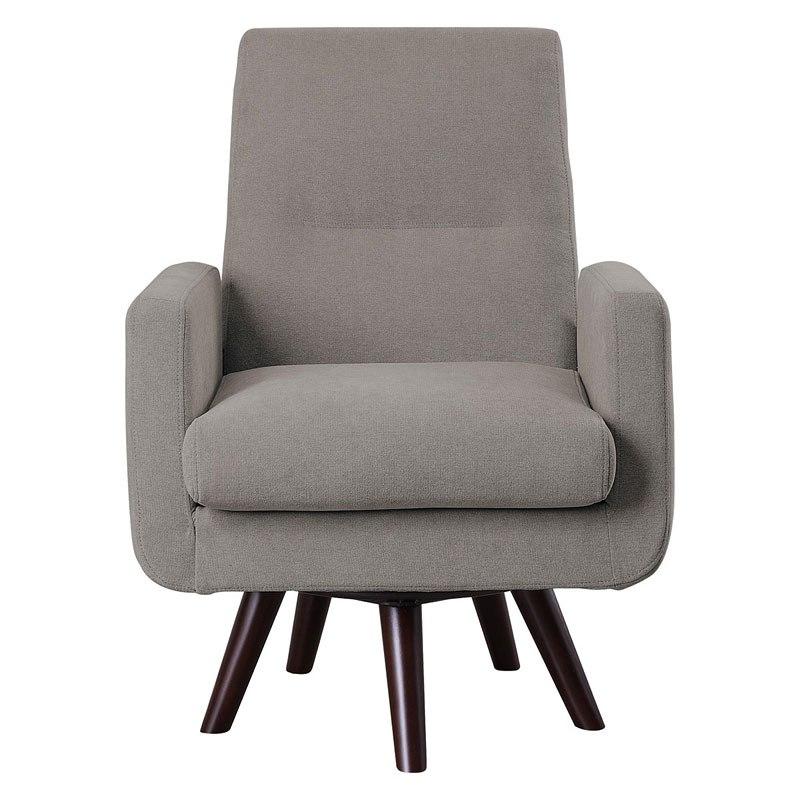 Mentor Swivel Chair (Grayish Brown) by Homelegance ...