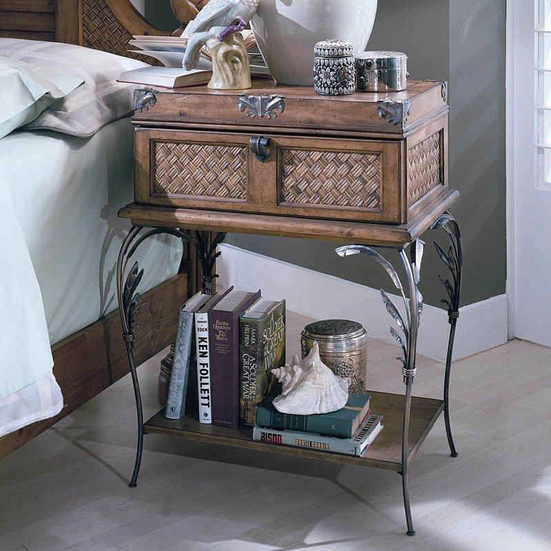 Palm Court Metal Leg Nightstand Island Pine By Progressive Furniture Furniturepick