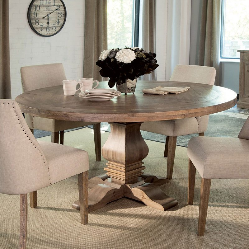 Florence Round Dining Table By Coaster Furniture Furniturepick