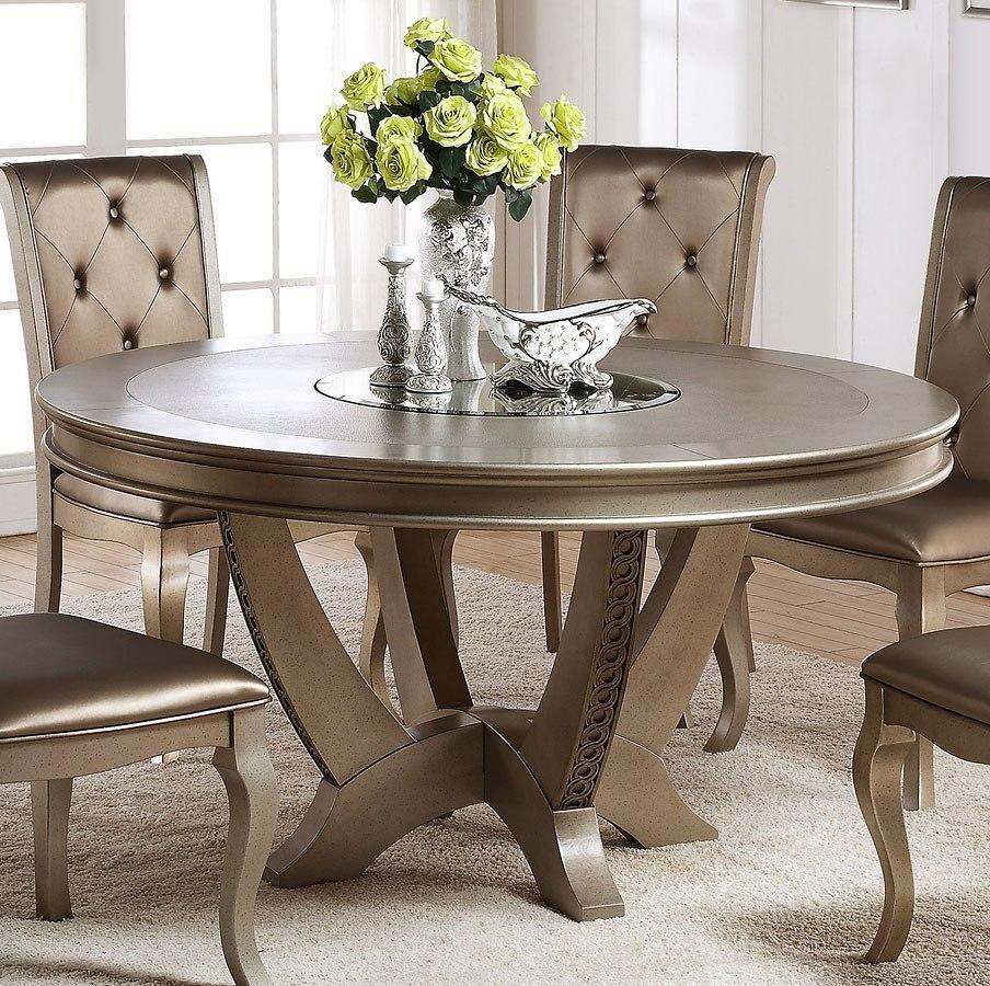 Mina Round Dining Table By Crown Mark Furniture Furniturepick