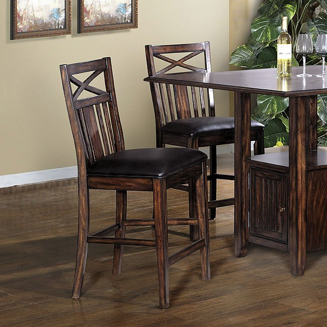 Augusta Counter Height Stool Set Of 2 By Eci Furniture Furniturepick