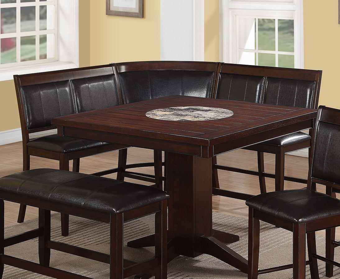 Picture of: Harrison Counter Height Back Bench Set Of 2 By Crown Mark Furniture Furniturepick