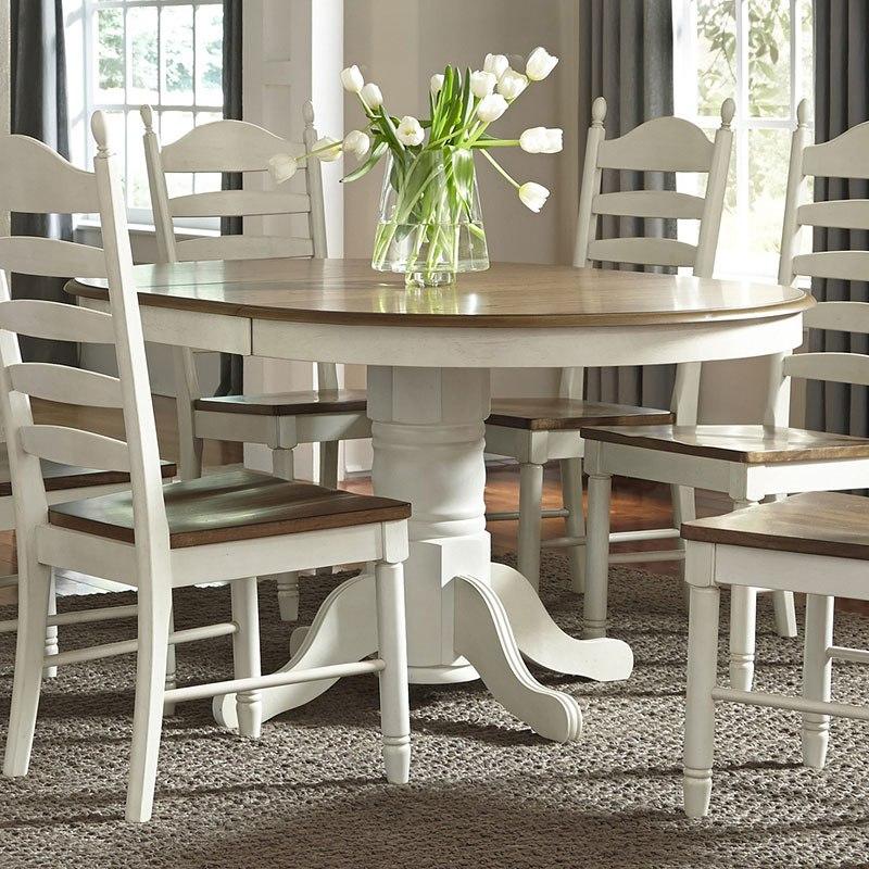 springfield round dining tableliberty furniture