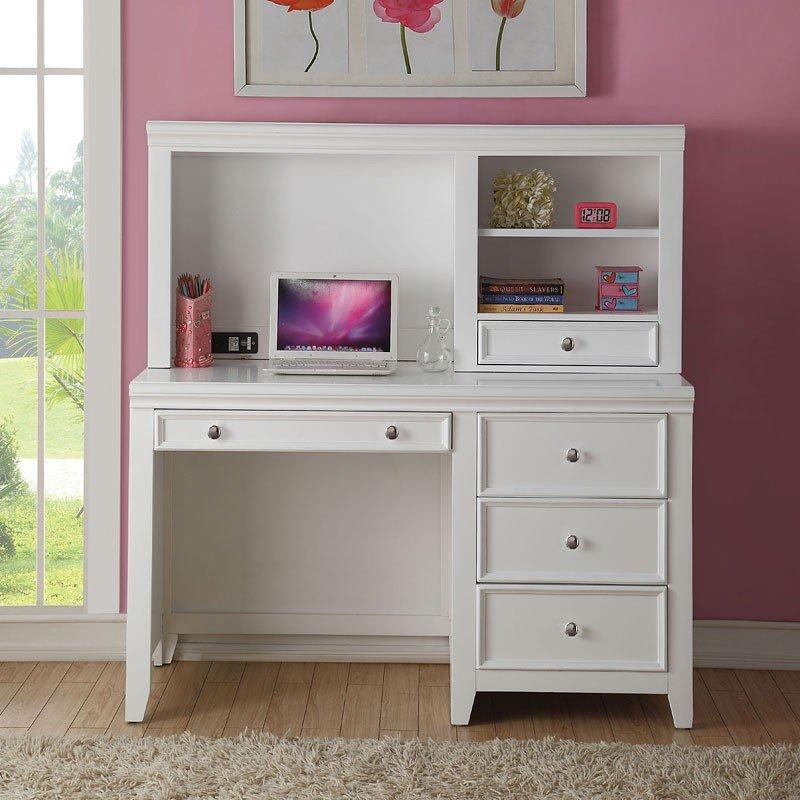 Lacey Computer Desk W Hutch White By Acme Furniture Furniturepick