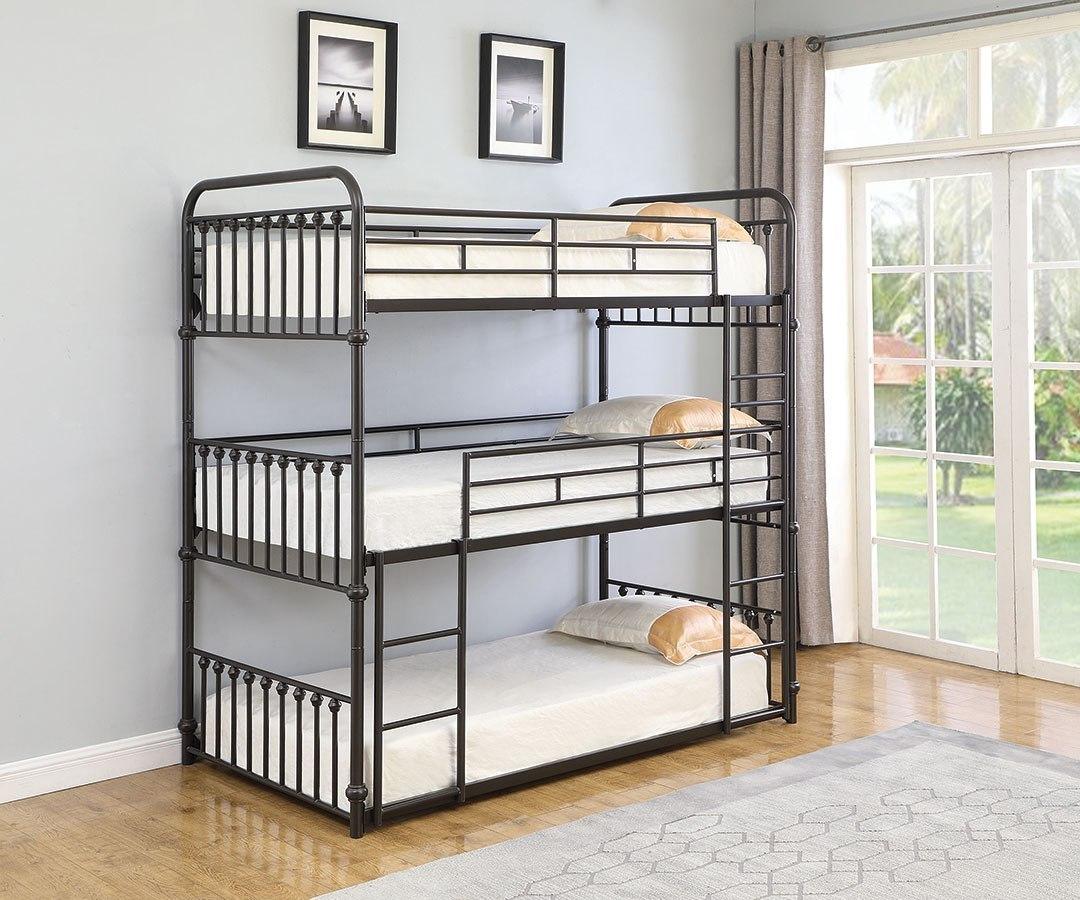 Picture of: Navarino Twin Triple Bunk Bed By Coaster Furniture Furniturepick