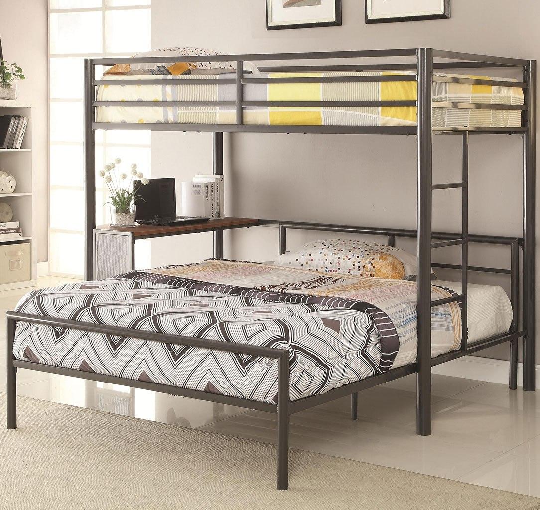 Workstation Twin Over Full Loft Bed Coaster Furniture Furniturepick