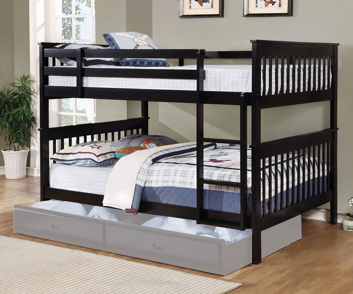 Picture of: Chapman Full Over Full Bunk Bed Black By Coaster Furniture Furniturepick