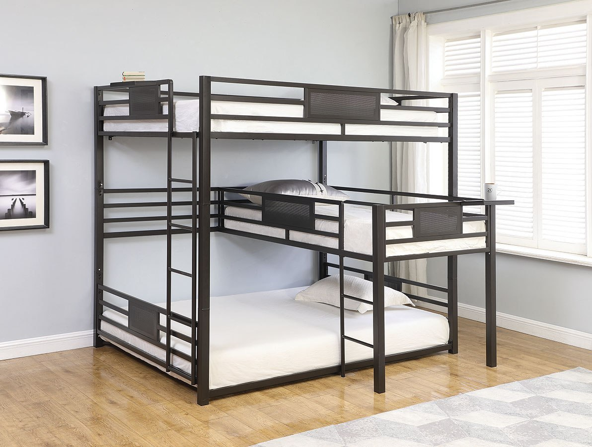 Arley Queen Over Twin Over Queen Bunk Bed By Coaster Furniture Furniturepick