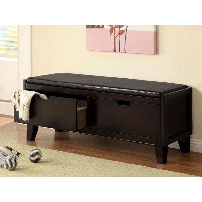 Dark Walnut Storage Bench W Drawers Coaster Furniture Furniturepick