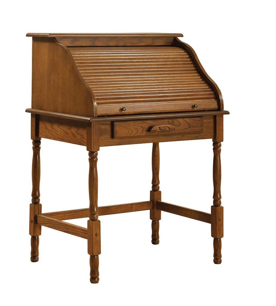 Palmetto Small Roll Top Secretary Desk (Oak)