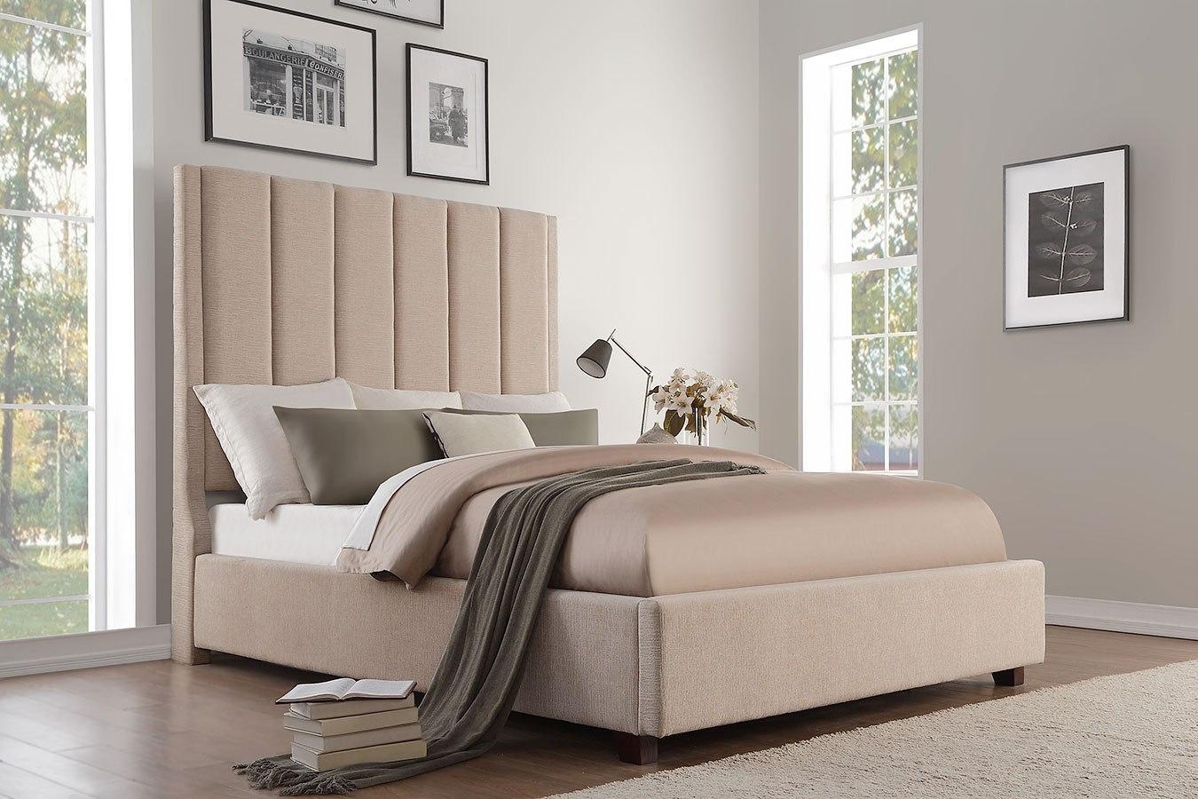 Neunan Beige Upholstered Bed By Homelegance Furniturepick