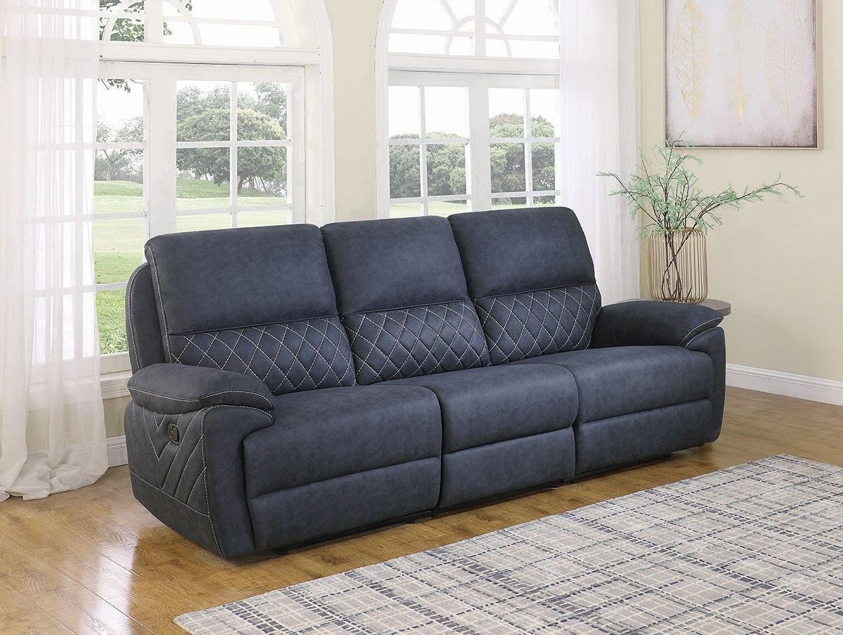 Image of: Variel Reclining Living Room Set Blue By Coaster Furniture Furniturepick