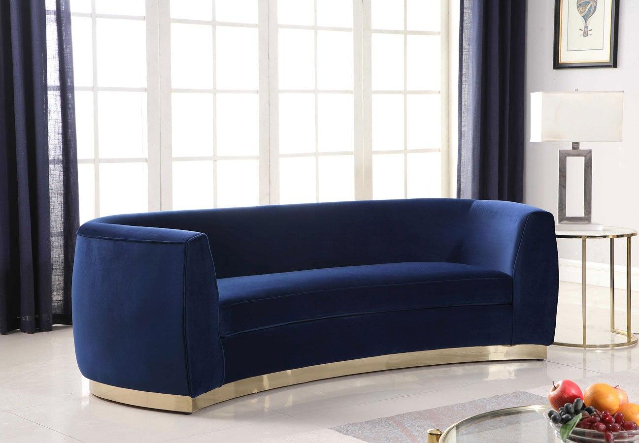 Picture of: Julian Sofa Navy Gold By Meridian Furniture Furniturepick