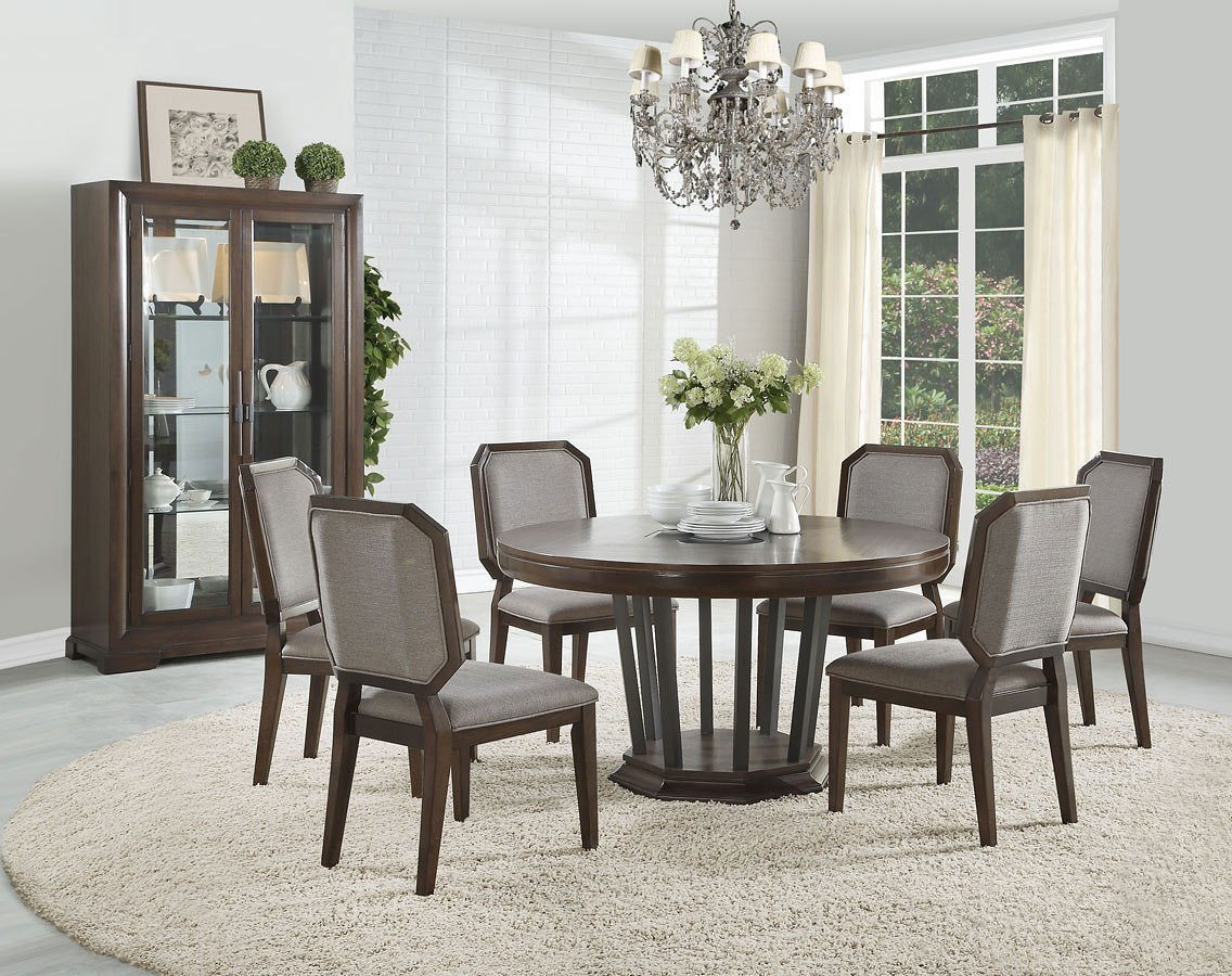 Selma Round Dining Room Set By Acme Furniture Furniturepick