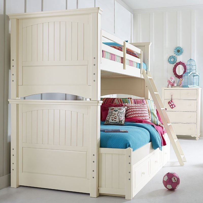 Summerset Twin Over Full Bunk Bed Ivory By Legacy Classic Kids Furniturepick