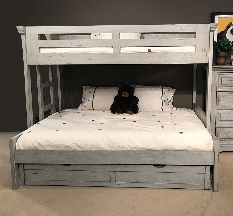 Stonebrook Twin Over Full Bunk Bed Antique Gray By American Woodcrafters Furniturepick