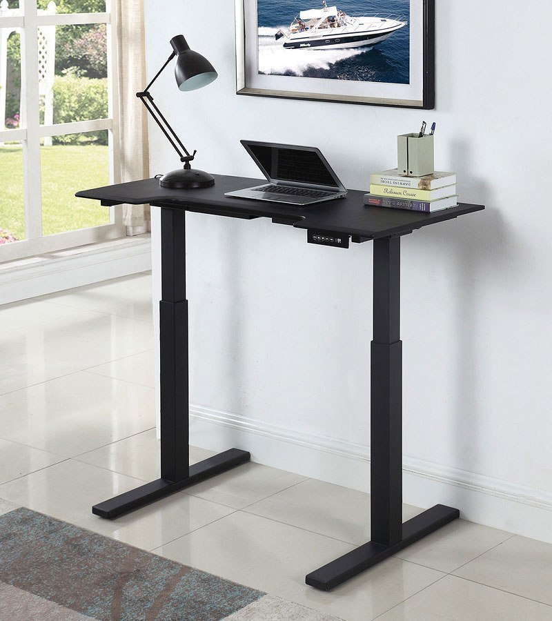 Black Motorized Standing Desk by Coaster Furniture ...