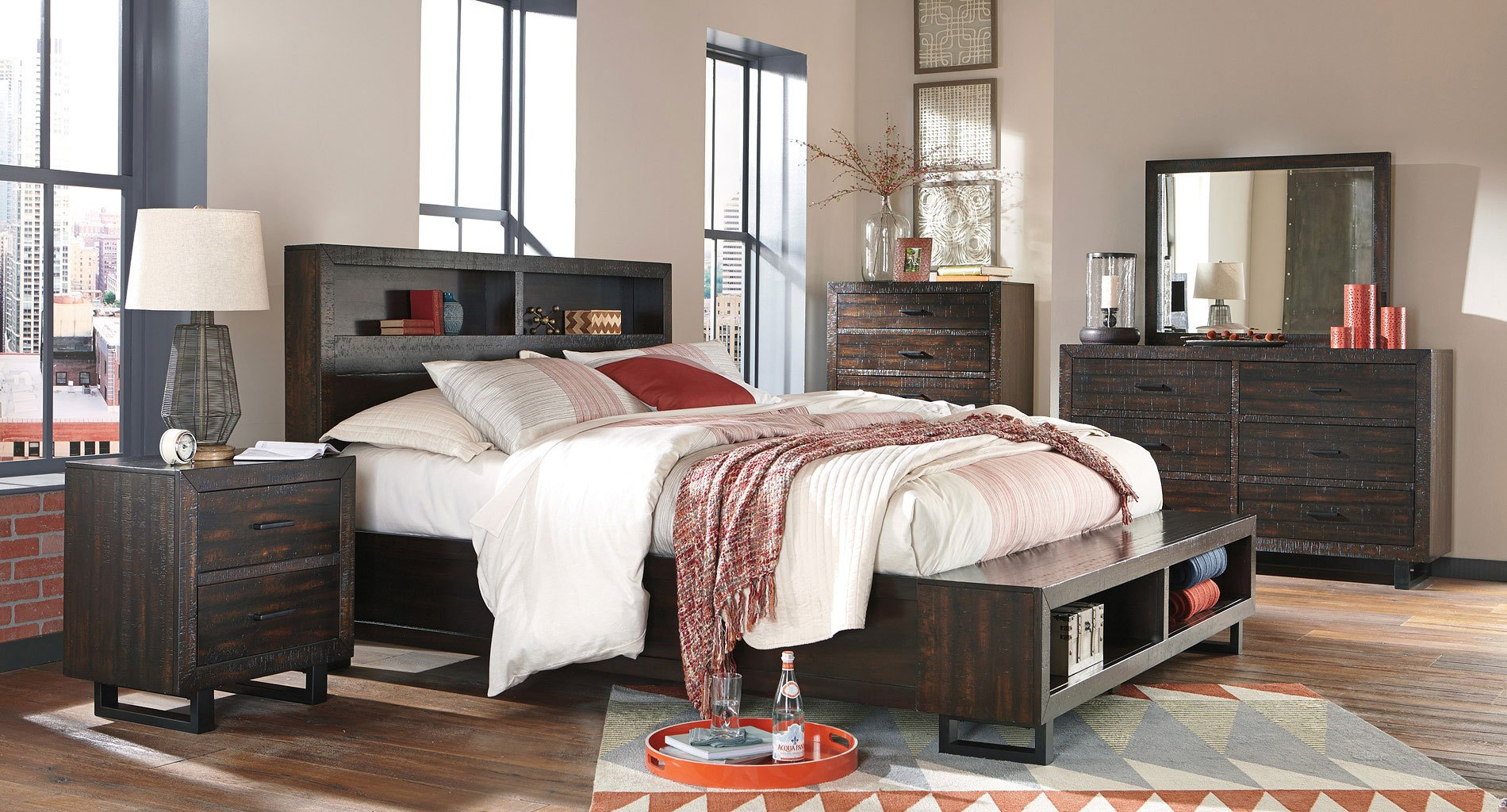 Parlone Bookcase Storage Bedroom Set By Signature Design By Ashley Furniturepick