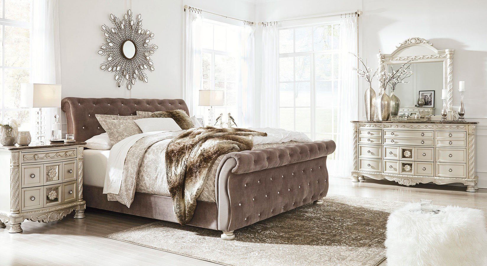 Cassimore Upholstered Bedroom Set Signature Design By Ashley Furniturepick