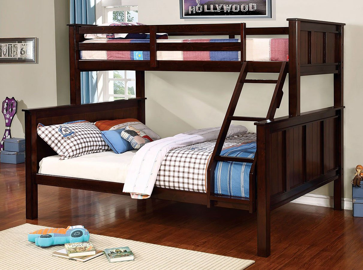 Gracie Twin Over Queen Bunk Bed By Furniture Of America Furniturepick