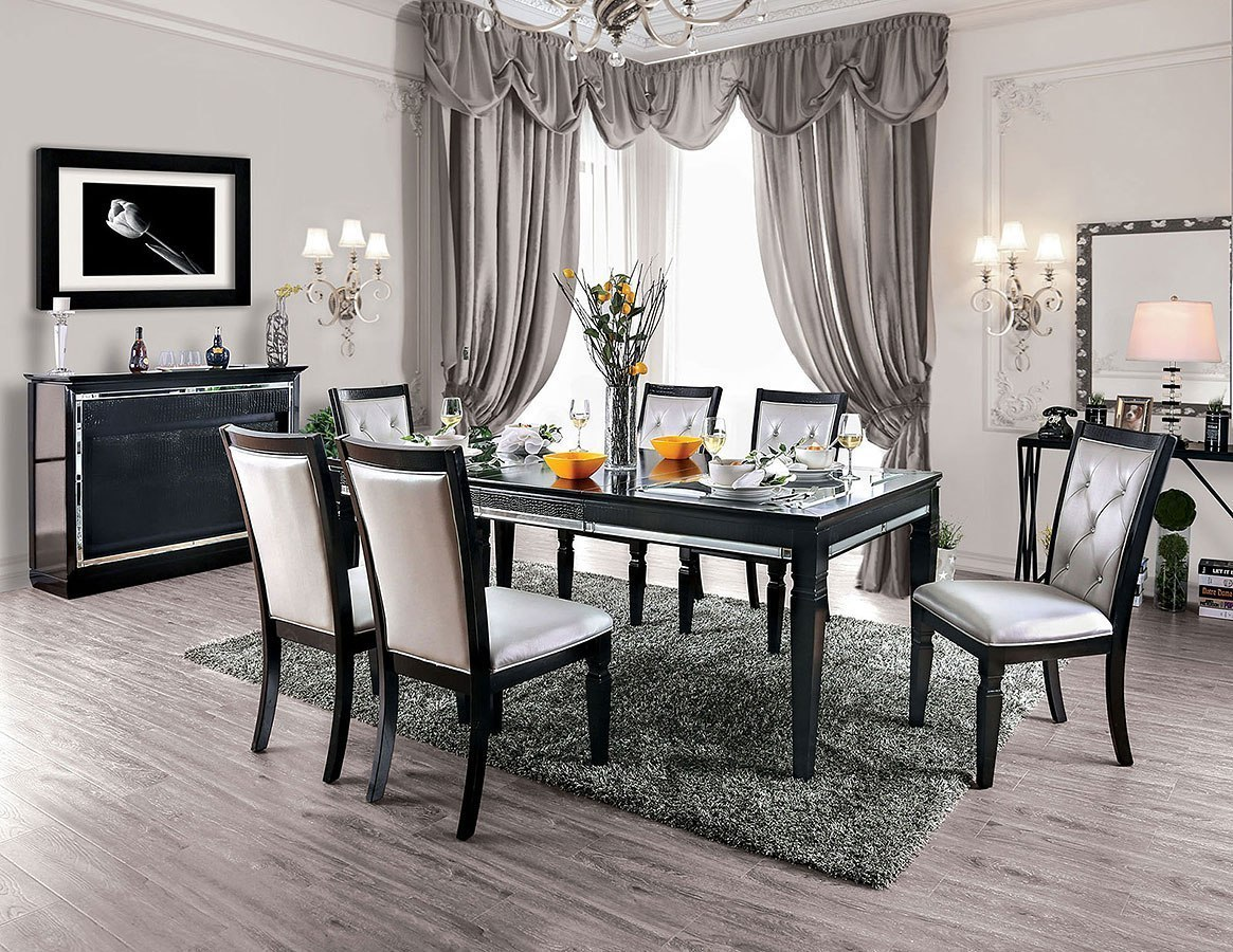 Alena Dining Room Set Black By Furniture Of America Furniturepick
