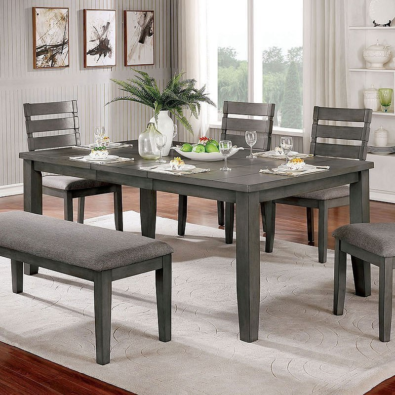 Viana Expandable Dining Table By Furniture Of America Furniturepick