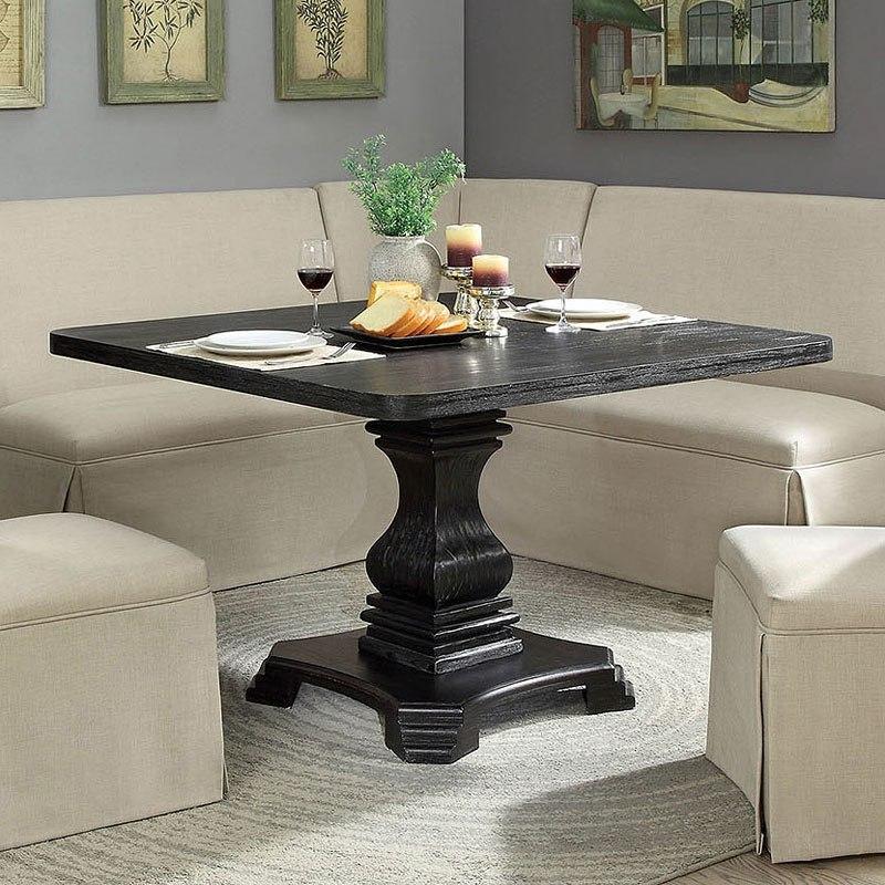 Nerissa Square Dining Table Antique Black By Furniture Of America Furniturepick