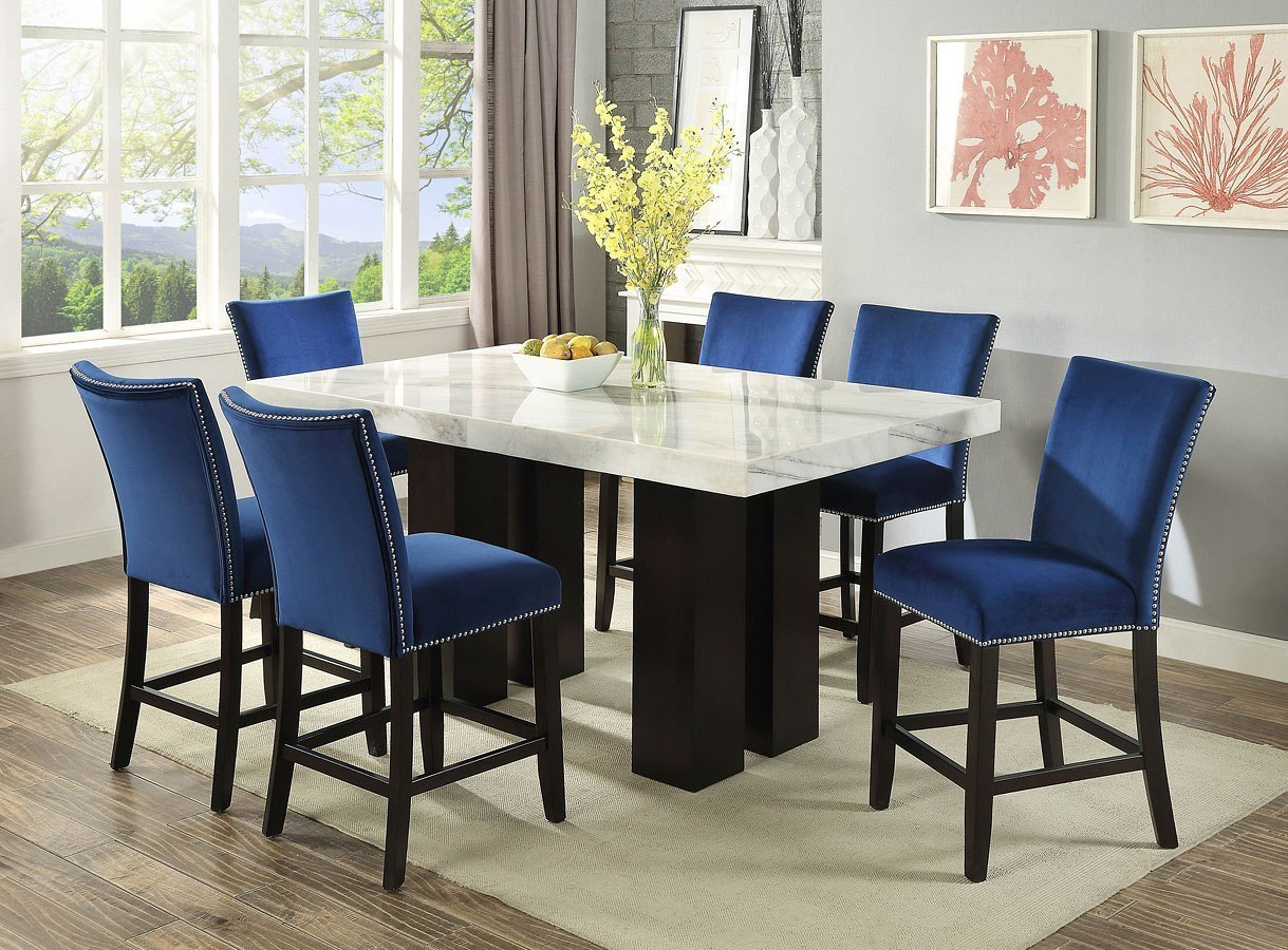 Camila Rectangular Counter Height Dining Set by Steve Silver ...