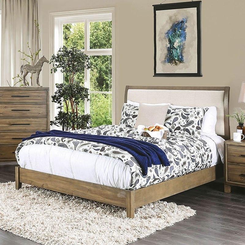 Enrico I Platform Bed Light Oak By Furniture Of America Furniturepick