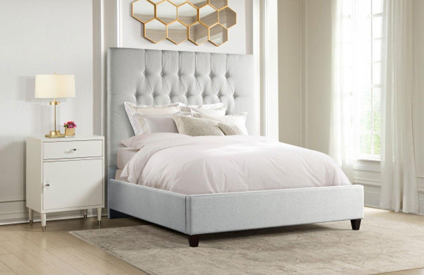 City Chic Diamond Tufted Panel Bedroom Set Light Grey By Accentrics Home Furniturepick