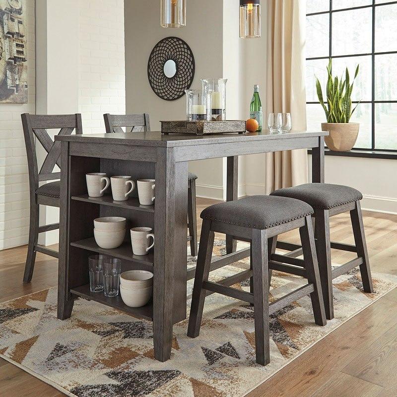 Jofran Taylor Cherry 7 Piece Counter Height Dining Table Set Walmart Com Walmart Com