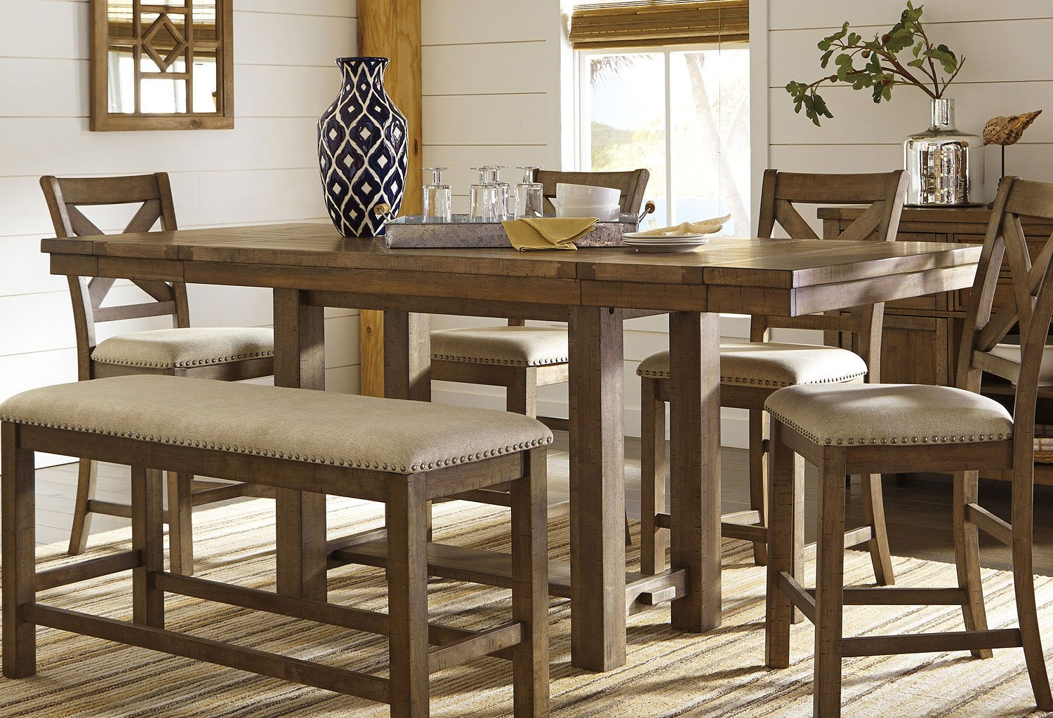 Moriville Counter Height Dining Table By Signature Design By Ashley Furniturepick