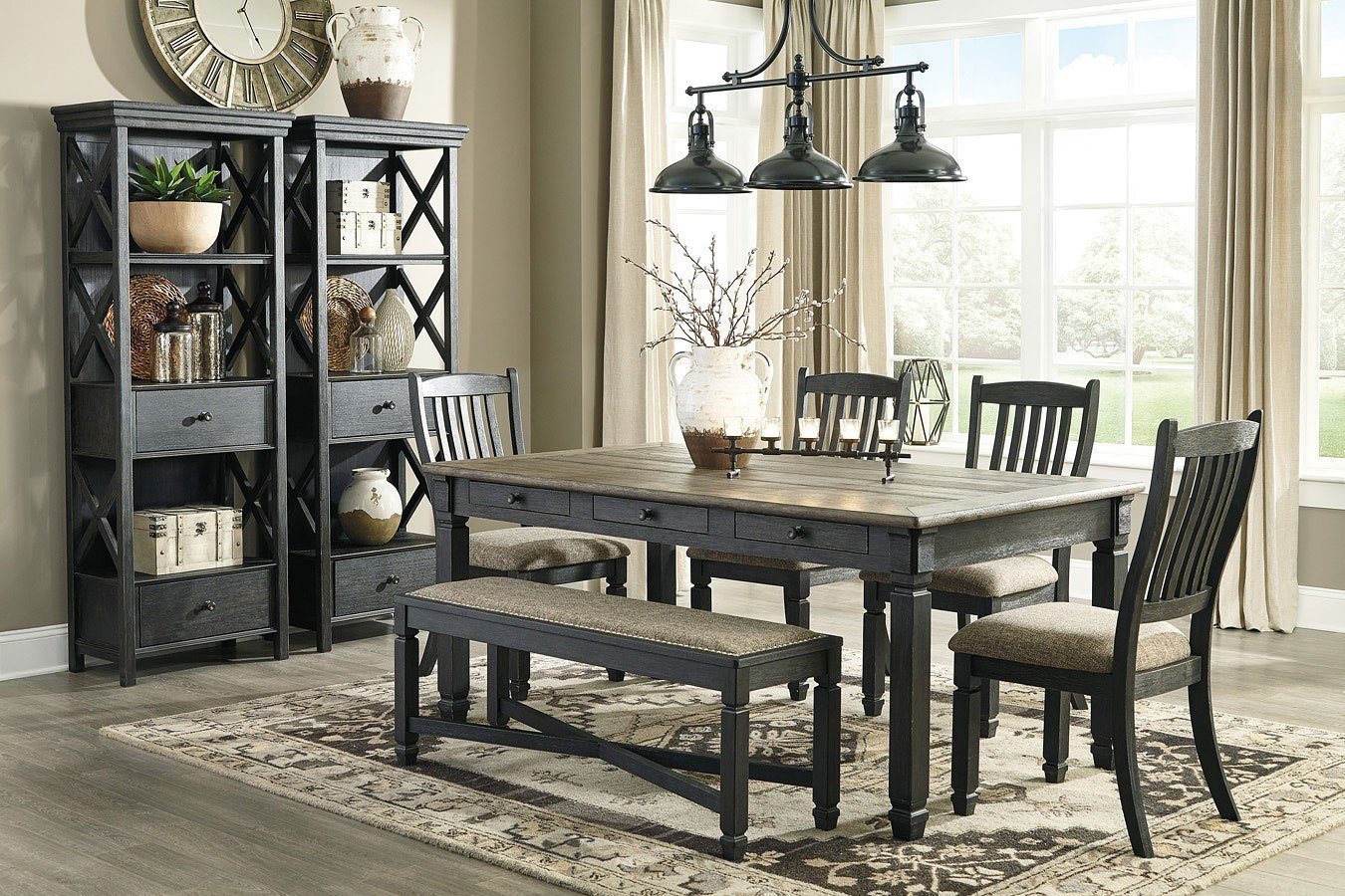 Tyler Creek Rectangular Dining Set W Bench By Signature Design By Ashley Furniturepick