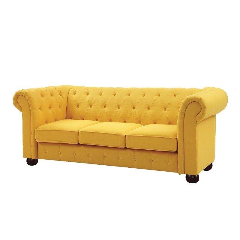 G497 Tufted Sofa (Yellow) By Glory Furniture | FurniturePick