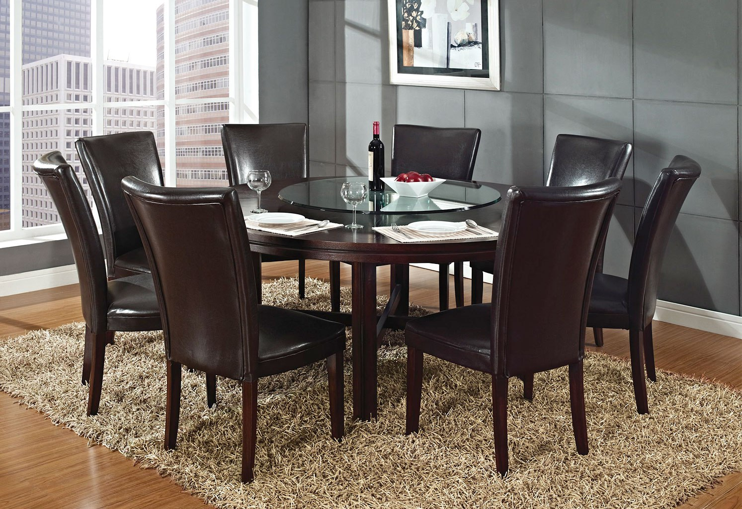 Hartford 72 Inch Round Dining Room Set By Steve Silver Furniture Furniturepick
