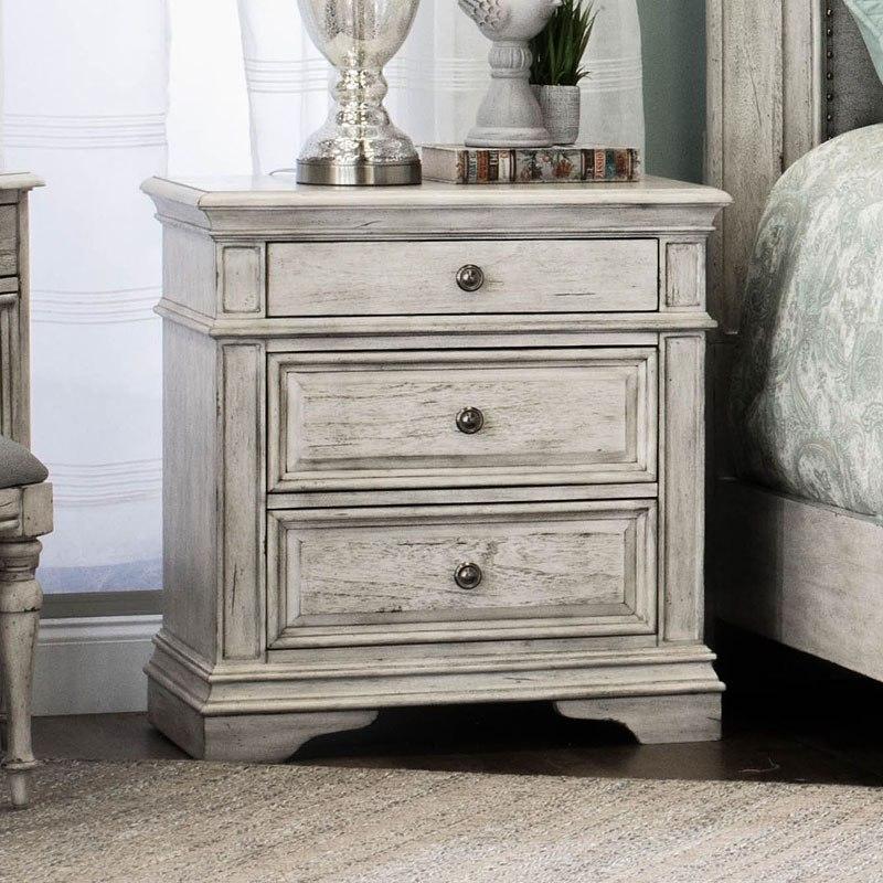 Highland Park Panel Bedroom Set Cathedral White By Steve Silver Furniture Furniturepick