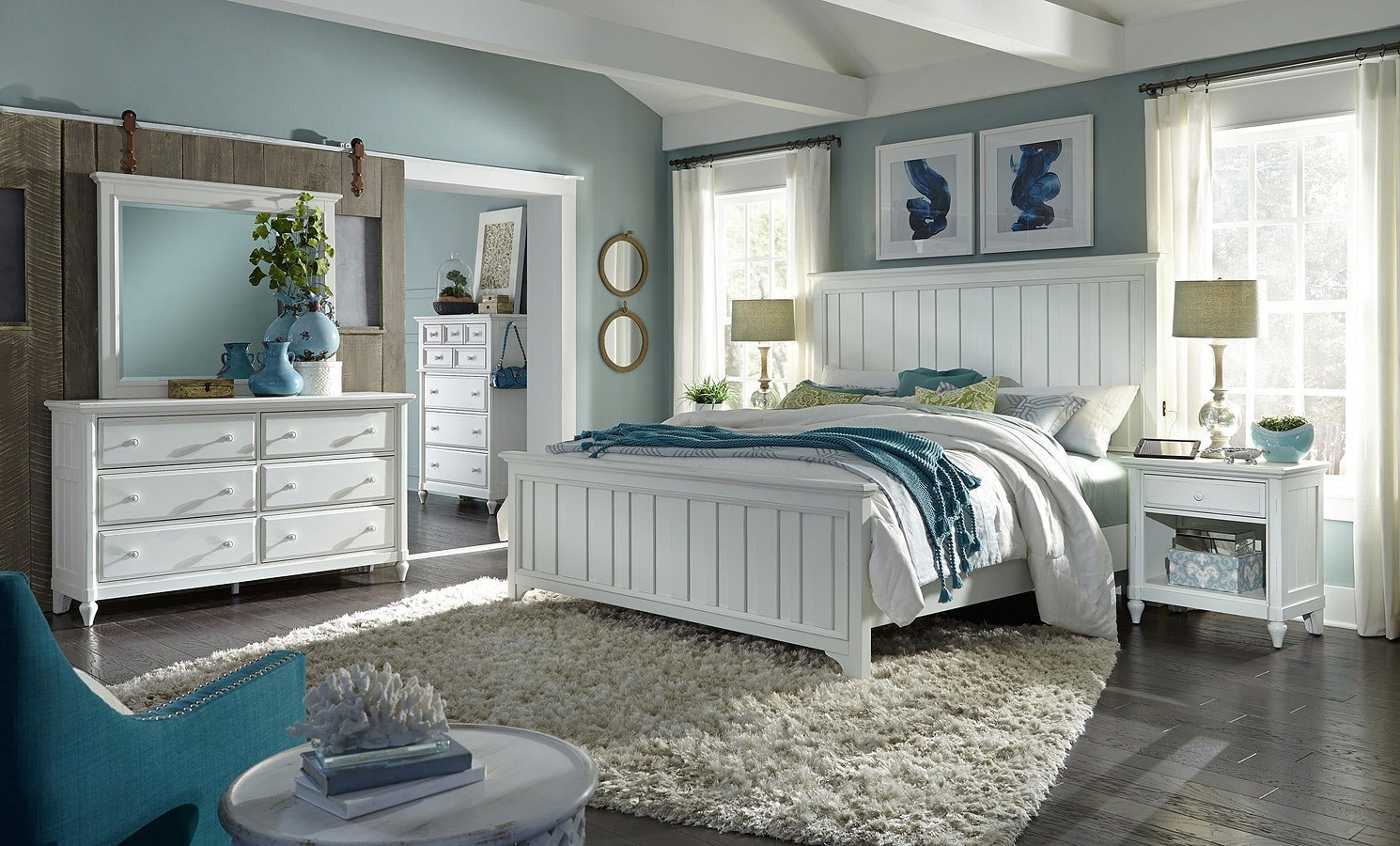 Retreat Farmhouse Bedroom Set By Aspenhome Furniturepick