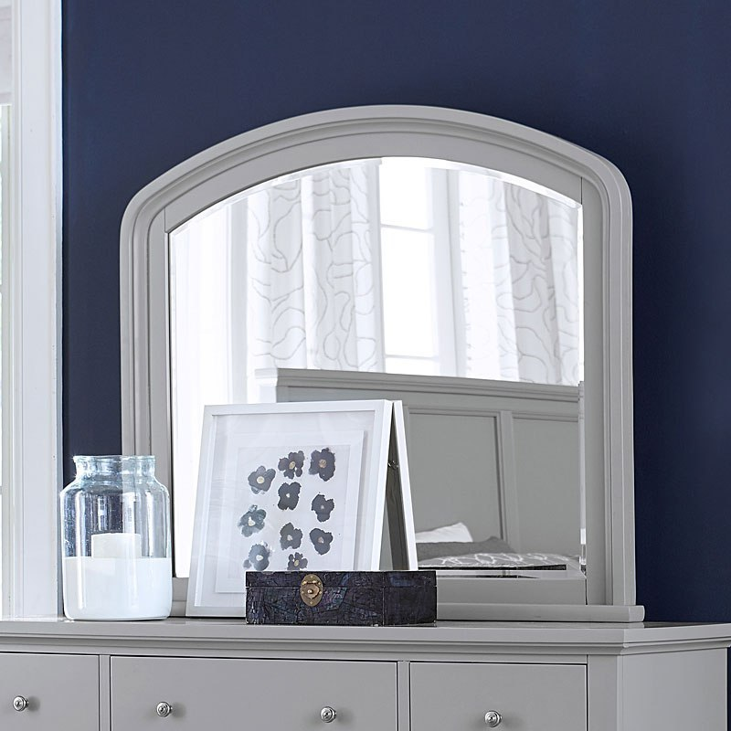Cambridge Double Dresser Mirror Light Gray Paint By Aspenhome Furniturepick