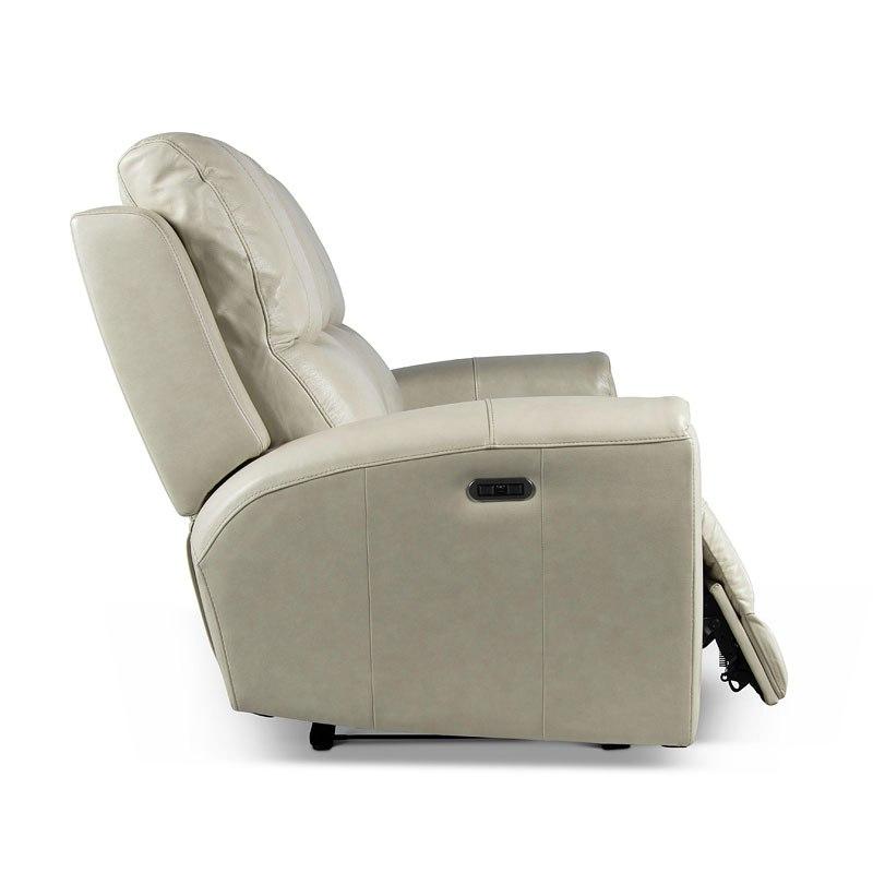 Laurel Power Reclining Sofa (Ivory)