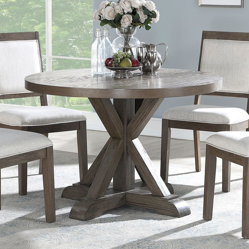 Molly 48 Inch Round Dining Table By Steve Silver Furniture Furniturepick