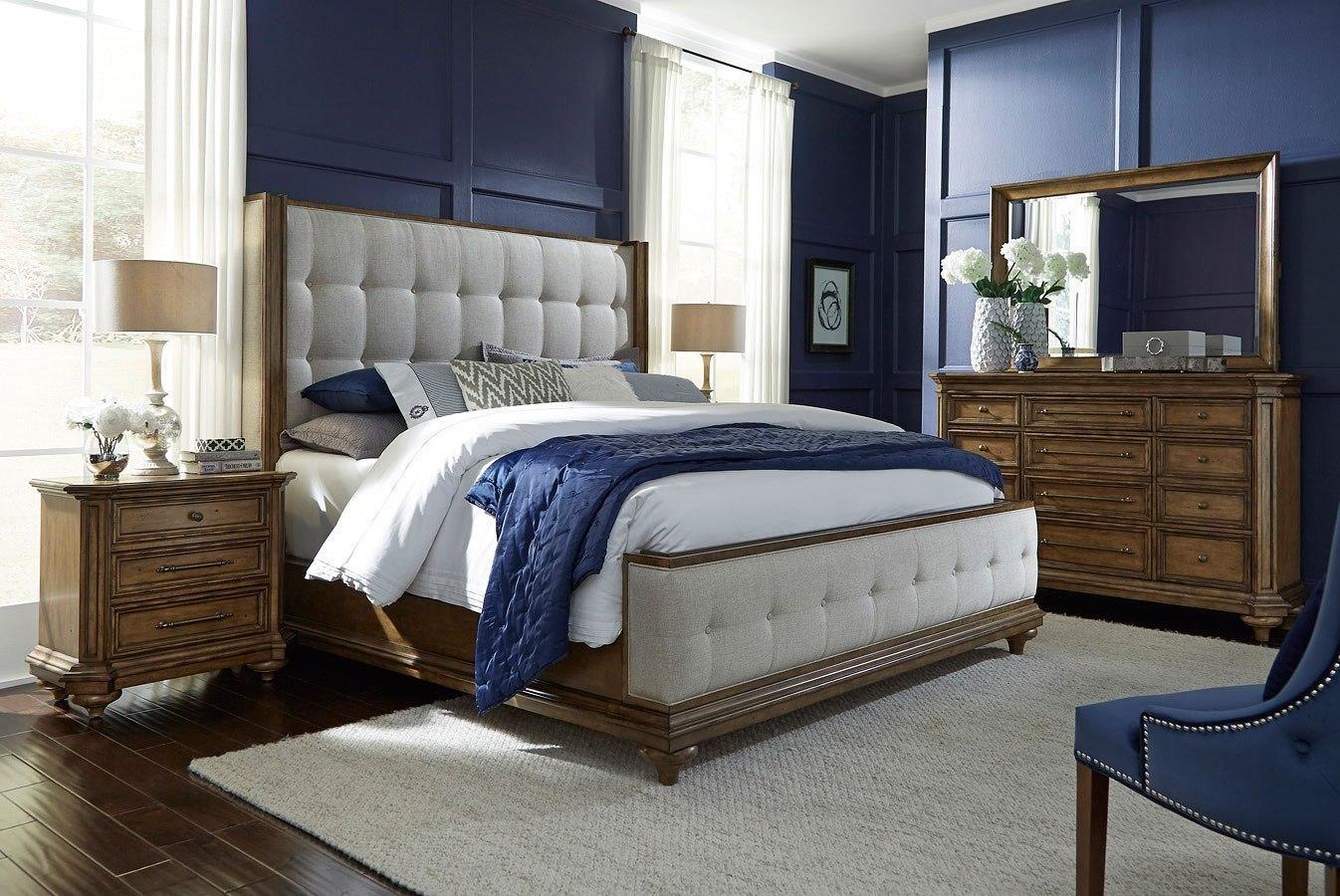 Carrington Upholstered Bedroom Set By Pulaski Furniture Furniturepick