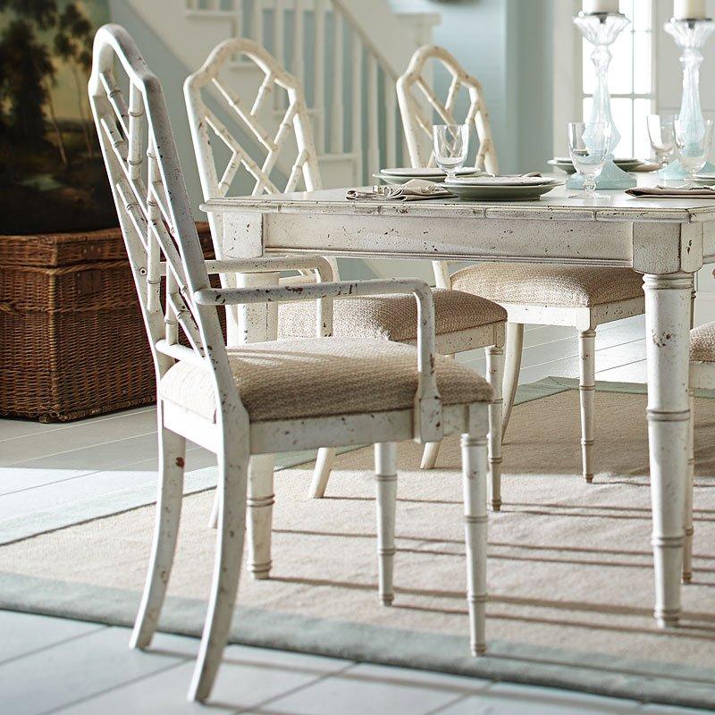 Emporium Bamboo Arm Chair White Set Of 2 By Progressive Furniture Furniturepick