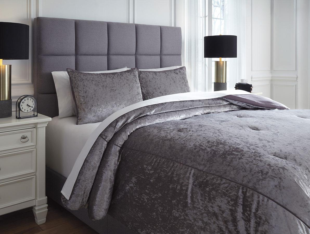 Rosemaria Dark Gray Comforter Set By Signature Design By Ashley Furniturepick