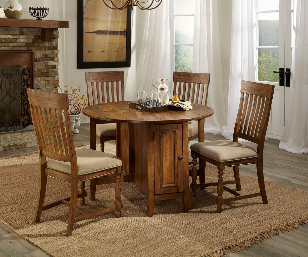 Picture of: Rhone Round Kitchen Table Set By Intercon Furniture Furniturepick