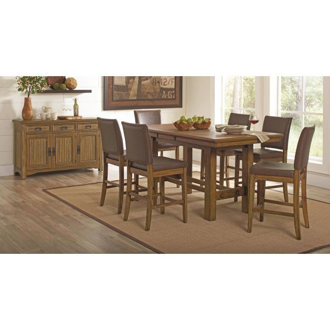 Salerno Counter Height Dining Room Set By Coaster Furniture Furniturepick