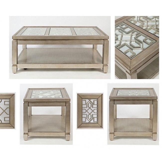 Casa Bella Mirrored Occasional Table Set Vintage Silver By Jofran Furniture Furniturepick