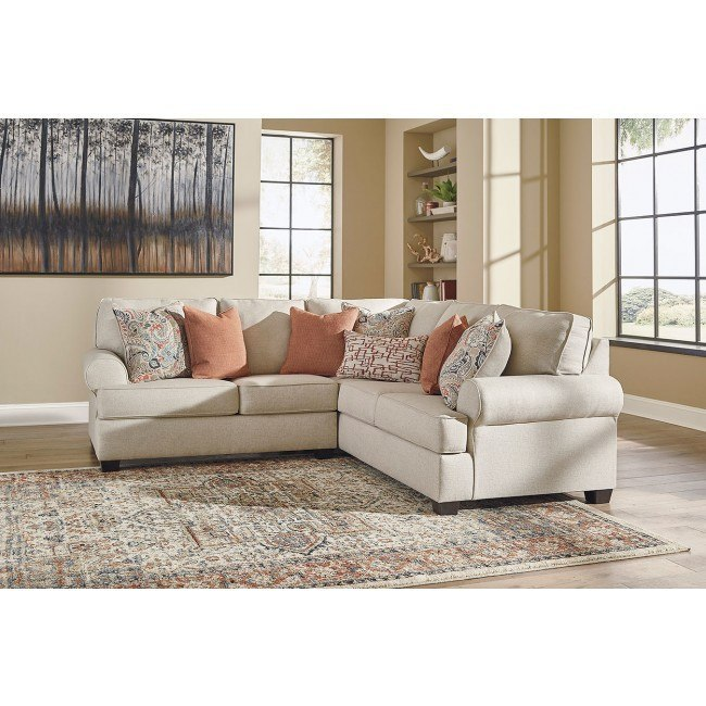 Amici Linen Sectional By Signature Design By Ashley Furniturepick